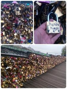 Padlock of love in in Pont des Arts