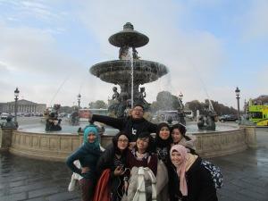 the Fountaines de La Concorde