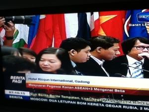 Liputan TV Lokal Brunei mengenai 8th ASEAN Ministerial Meeting on Youth di Brunei Darussalam - ada saya, atasan dan senior dalam liputan tsb