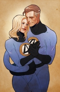 Reed & Susan Richards - Mr. Fantastic and Invisible Woman of the Fantastic Four (Credits to: https://www.pinterest.com/pin/475552041873035491/)